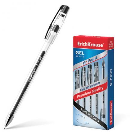 Ручка гелевая гелевая Erich Krause G-Point черный 0.25 мм гелевая ручка erich krause g base красный 0 5 мм 30937