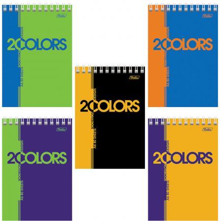Блокнот Hatber 2 Colors A6 80 листов