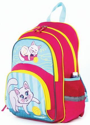 Купить Рюкзак ПИФАГОР+ для начальной школы, девочка, Котенок, 40х30х15 см, 227937, Рюкзаки и сумки