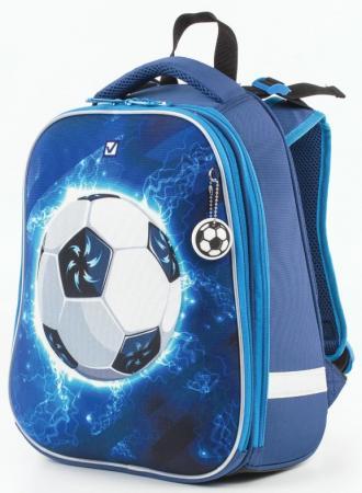Ранец ортопедический BRAUBERG Футбол 17 л синий цена и фото