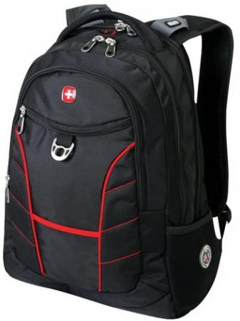 Фото - Рюкзак WENGER, универсальный, черный, красные полосы, Rad, 30 л, 35х20х47 см, 1178215 рюкзак светоотражающие материалы wenger универсальный 26 л черный