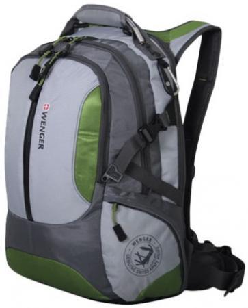 """Рюкзак с отделением для ноутбука WENGER """"Large Volume Daypack"""" 30 л зеленый серый цена и фото"""