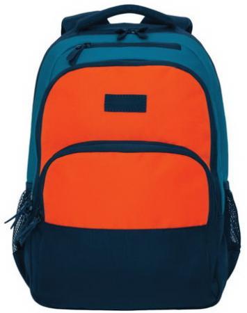 Рюкзак GRIZZLY универсальный, темно-синий/оранжевый, 32х45х23 см, RU-924-2/1 цена и фото