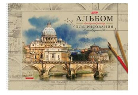 Альбом для рисования Hatber Европа A3 40 листов цена и фото