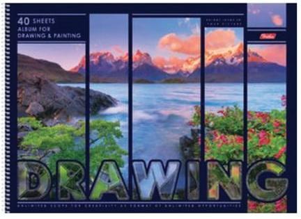 """Альбом для рисования, А3, 40 л., спираль, обложка картон, подложка, HATBER """"Природа"""", 40А3Всп 16840, A246351"""