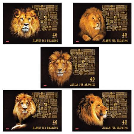Альбом для рисования Hatber King Lion A4 40 листов