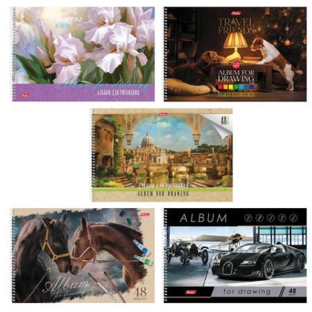 Альбом для рисования Hatber Ассорти A4 48 листов альбом для рисования hatber верные друзья a4 12 листов
