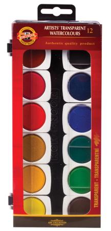 Краски акварельные Koh-i-Noor художественные 12 цветов printio акварельные краски
