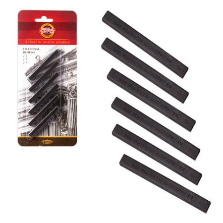 Уголь художественный для рисования Koh-i-Noor Уголь прессованный 6 штук набор уголь художественный экстра для рисования диаметр 12 мм 4 шт