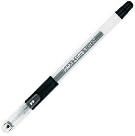 Ручка гелевая PAPER MATE PM 300, корпус прозрачный, узел 1 мм, линия 0,7 мм, черная, S0929350 набор гелевых ручек paper mate pm 300 2 шт черный 0 7 мм pm s0929300