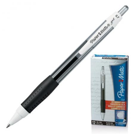 Ручка гелевая автоматическая Paper Mate PM Gel черный 0.7 мм набор гелевых ручек paper mate pm 300 2 шт черный 0 7 мм pm s0929300
