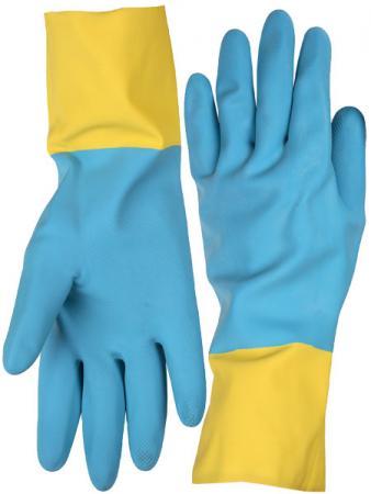 Перчатки STAYER латексные с неопреновым покрытием, экстрастойкие, с х/б напылением, размер L стоимость