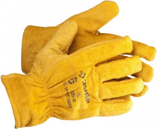 Перчатки ЗУБР МАСТЕР кожаные рабочие, с подкладкой, XL перчатки рабочие кожаные xl
