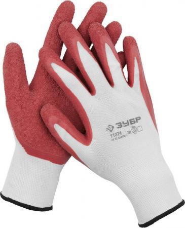 """Перчатки ЗУБР """"МАСТЕР"""" трикотажные, с рельефным латексным покрытием, размер M (8) стоимость"""
