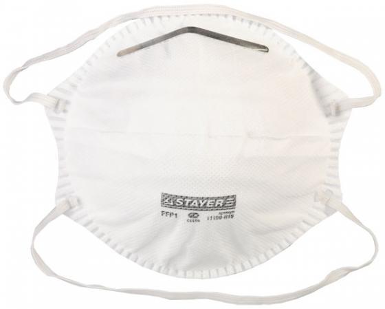 Полумаска фильтрующая STAYER PROFI коническая, многослойная, класс защиты FFP1, 5шт полумаска фильтрующая stayer profi 15шт 11109 h15