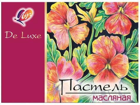 Купить Пастель масляная художественная ЛУЧ Люкс , 24 цвета, круглое сечение, 25С1510-08