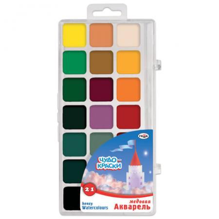 Краски акварельные Гамма Чудо-краски 21 цвет printio акварельные краски