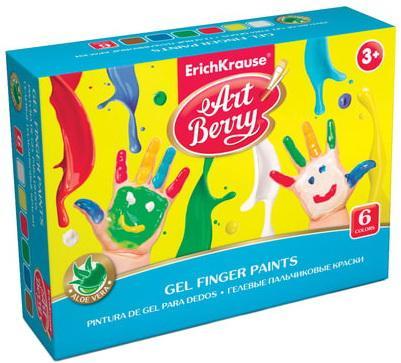 Краски пальчиковые ERICH KRAUSE Artberry, 6 цветов по 35 мл, на водной основе, в баночках, 41752