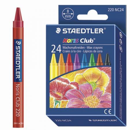 """Восковые мелки Staedtler """"Noris Club"""" 24 штуки 24 цвета все цены"""