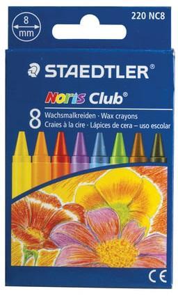 Восковые мелки Staedtler Noris Club 8 штук 8 цветов все цены
