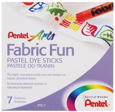 Пастель для ткани PENTEL Fabric Fun, 7 цветов, картонная упаковка, PTS-7