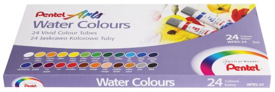 Краски акварельные PENTEL Water Colours 24 цвета printio акварельные краски