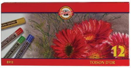 Купить Пастель сухая художественная KOH-I-NOOR Toison D'or , 12 цветов, круглое сечение, 8512012004SV