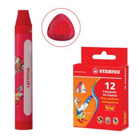 Восковые мелки Stabilo Trio 12 штук 12 цветов фломастеры stabilo trio 2 in 1 10 цветов