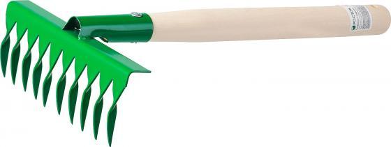 цены на Грабельки садовые с деревянной ручкой, РОСТОК 39614, 10 витых зубцов, 200x62x405 мм  в интернет-магазинах