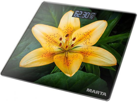 Весы напольные Marta MT-1676 рисунок лилия sela h 212 702 6321