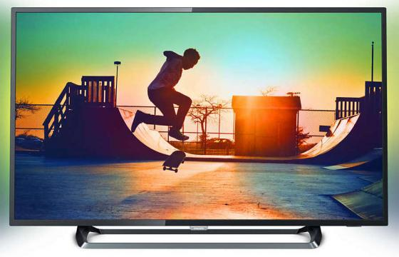 "Телевизор LED Philips 50"" 50PUS6262/60 черный/Ultra HD/60Hz/DVB-T/DVB-T2/DVB-C/DVB-S/DVB-S2/USB/WiFi/Smart TV (RUS) цена 2017"