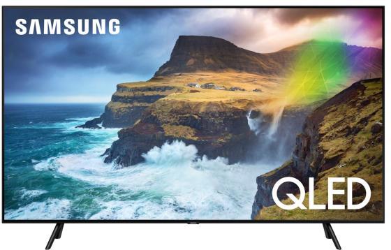 "Телевизор QLED Samsung 55"" QE55Q70RAUXRU черный/Ultra HD/1000Hz/DVB-T2/DVB-C/DVB-S2/USB/WiFi/Smart TV (RUS) все цены"
