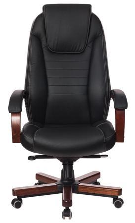 купить Кресло руководителя Бюрократ T-9923WALNUT/BLACK черный кожа крестовина дерево по цене 14050 рублей