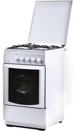 Плита Газовая Flama FG 24023 W белый (металлическая крышка) реш.эмаль