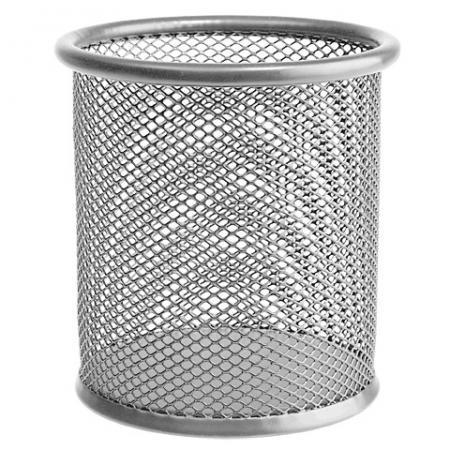 цена на Подставка-органайзер ERICH KRAUSE, металлическая, круглое основание, серебристая, 22502