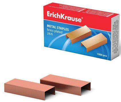 Скобы для степлера Erich Krause № 24/6 1000 шт цена