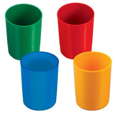 Подставка-органайзер СТАММ (стакан для ручек), 70х70х90 мм, ассорти, 4 цвета, СН01 раннее развитие стамм счеты первоклассника 2 цвета