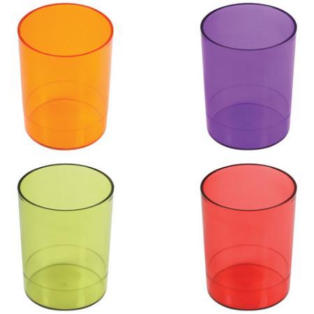 Подставка-органайзер СТАММ (стакан для ручек), 4 цвета ассорти, тонированный (красный, зеленый, оранжевый, фиолетовый), СН60 раннее развитие стамм счеты первоклассника 2 цвета