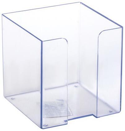 Подставка для бумажного блока СТАММ пластиковая, 90х90х90 мм, прозрачная, ПЛ41 подставка для бумажного блока стамм пластиковая 90х90х90 мм прозрачная пл41