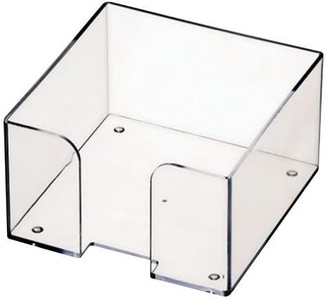 Подставка для бумажного блока СТАММ пластиковая, 90х90х50 мм, прозрачная, ПЛ61 подставка для бумажного блока стамм пластиковая 90х90х90 мм прозрачная пл41