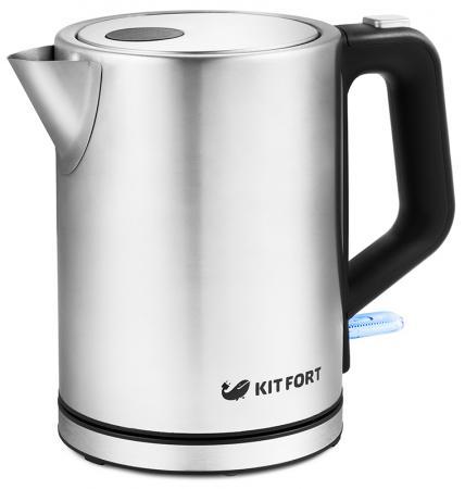 Чайник электрический KITFORT КТ-636 2200 Вт серебристый 1 л нержавеющая сталь чайник электрический element el kettle 2200 w