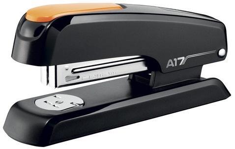Степлер MAPED (Франция) Essentials Desk, №24/6-26/6, до 25 листов, пластиковый, черный/оранжевый, 953511 maped степлер advanced 24 6 26 6