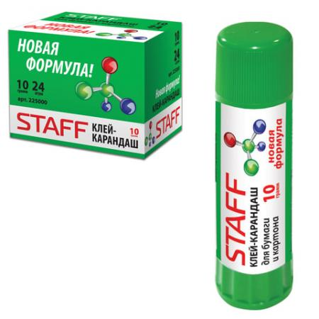 Клей-карандаш STAFF новая формула 10 гр. цены онлайн