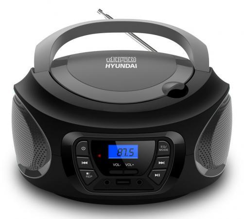 Аудиомагнитола Hyundai H-PCD380 черный/серый 4Вт/CD/CDRW/MP3/FM(dig)/USB/BT колонки hyundai h pac100 1 0 черный 3вт беспроводные bt