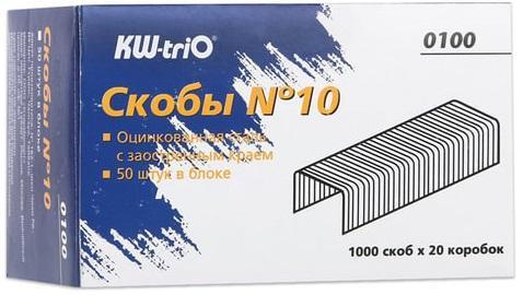 Скобы для степлера KW-trio №10 1000 шт цена 2017