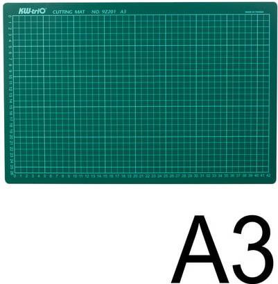 Коврик-подкладка настольный для резки KW-trio, А3 (450х300 мм), толщина 3 мм, сантиметровая шкала, -9Z201 цена и фото
