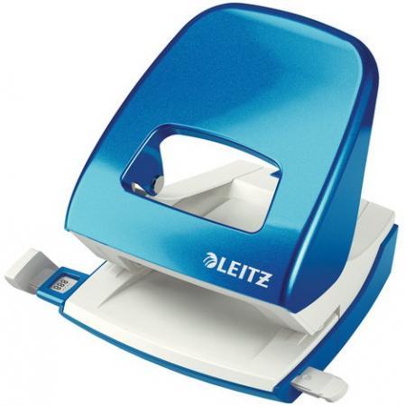 """Дырокол LEITZ """"NeXXt"""", металлический, большой, на 30 листов, синий металлик, блистер, 50082036 цена и фото"""