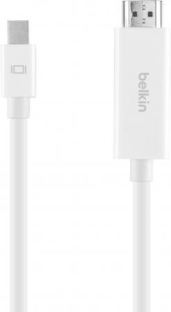 Фото - Кабель Belkin HDMI (m)/Mini Displayport 2м. белый (F2CD077DS2M-APL) кабель belkin hdmi папа hdmi папа 5 м