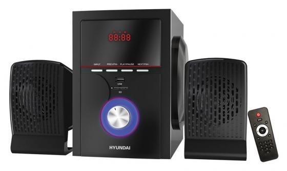 Микросистема Hyundai H-HA240 черный 39Вт/FM/USB/BT/SD конвектор hyundai h hv12 15 ui704