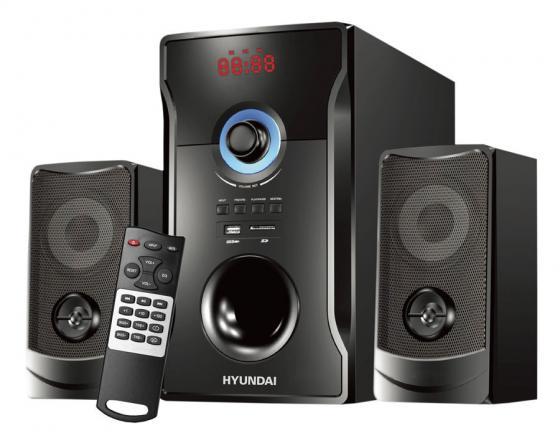 Микросистема Hyundai H-HA280 черный 78Вт/FM/USB/BT/SD колонки hyundai h pac100 1 0 черный 3вт беспроводные bt